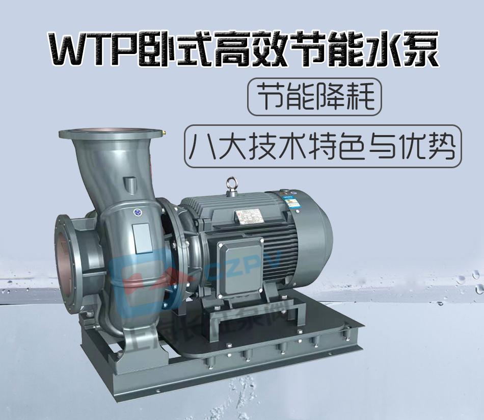 WTP卧式高效节能水泵概况