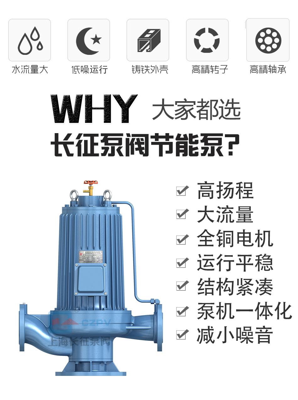PBG型屏蔽式管道离心循环水泵产品优势图