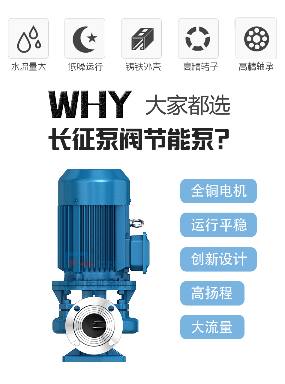 CZL系列便拆立式循环水管道增压离心泵产品优势图片